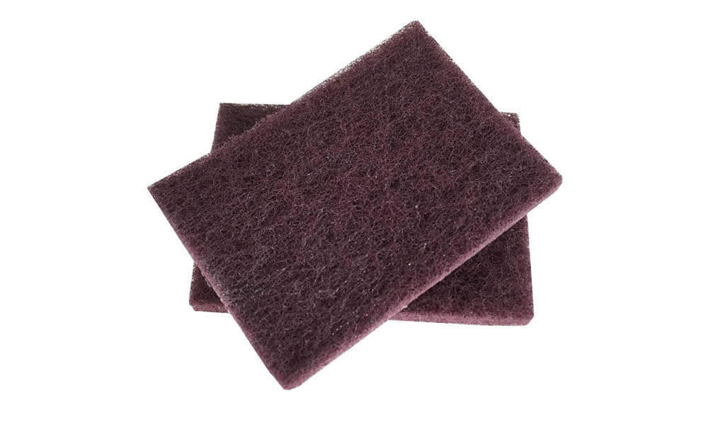 7447C Dark red industrial scouring pad