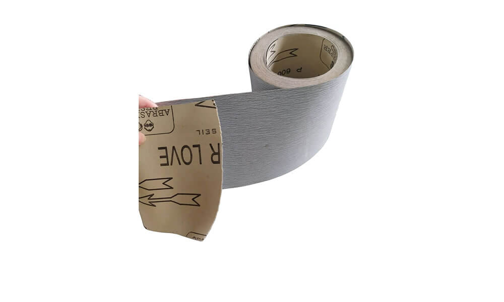 Carborundum abrasive paper in rolls with coating